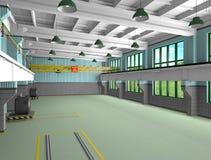 Zones industrielles d'architecture - barre transversale de metall Photographie stock