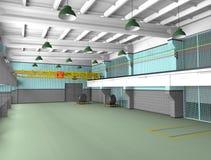 Zones industrielles d'architecture - barre transversale de metall Image libre de droits