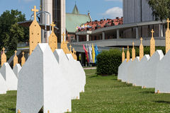 Zones of Reconciliation at the Sanctuary of Divine Mercy in Lagiewniki Stock Photography