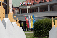 Zones of Reconciliation at the Sanctuary of Divine Mercy in Lagiewniki Stock Image