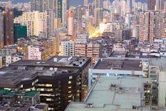 Zones urbaines de Hong Kong Image stock