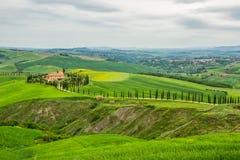 Zones vertes en Toscane photos libres de droits