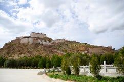 ZongShan castle in Jiangzi city of Tibet Stock Images