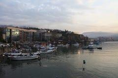 Zonguldak som är cÄ°ty i Turkiet Royaltyfri Bild