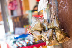 Zongzi:: еда китайца вареника липкого риса Стоковое Изображение