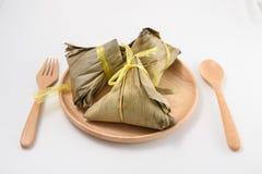 Zongzi - alimento cinese Fotografie Stock