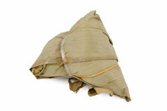Zongzi or Bak Chang on white Royalty Free Stock Photos