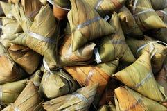 Zongzi, bolinho de massa do arroz pegajoso Imagens de Stock