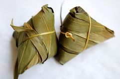 Zongzi, bolinho de massa do arroz pegajoso Fotos de Stock