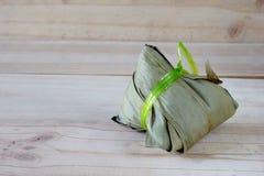 Zongzi Chang na drewnianym tle lub Bak Obrazy Stock