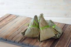 Zongzi Chang na drewnianym tle lub Bak Fotografia Stock