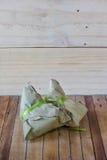 Zongzi Chang na drewnianym tle lub Bak Zdjęcia Stock
