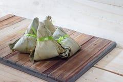 Zongzi Chang na drewnianym tle lub Bak Zdjęcia Royalty Free