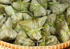 Zongzi , Chinese Rice Dumplings. Close up of Zongzi , Chinese Rice Dumplings in market Royalty Free Stock Photography
