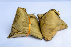 Zongzi. Contains egg, wheat, peanuts, shrimp and shiitake mushrooms Royalty Free Stock Image