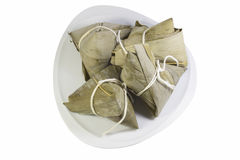 Zongzi in dish Stock Photography
