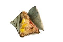 Zongzi lub Chińska kleistych ryż klucha na białym tle Zdjęcie Stock