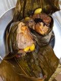 Zongzi o bola de masa hervida del arroz Imagen de archivo libre de regalías