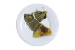 Zongzi o bolas de masa hervida del arroz, comida del chino tradicional Imágenes de archivo libres de regalías