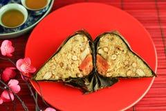 Bolas de masa hervida del arroz con té Foto de archivo