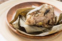 Zongzi o gnocco del riso appiccicoso Fotografie Stock