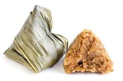 Zongzi or sticky rice dumpling on white background Stock Image