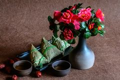 Zongzi tradicional do alimento de Dragon Boat Festival imagens de stock royalty free