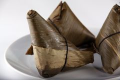 Zongzi. Traditional Chinese food royalty free stock photos