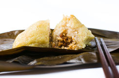 Zongzi, traditional Chinese food usually prepared for Dragon Boa Royalty Free Stock Image