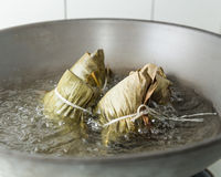 Zongzi in a wok Stock Image