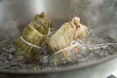 Zongzi in a wok Royalty Free Stock Image