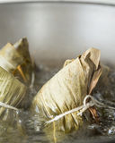 Zongzi in a wok Royalty Free Stock Photo