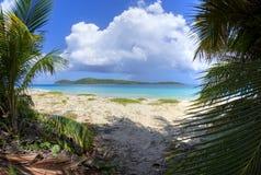 Zoni Beach and North Cay Stock Photo