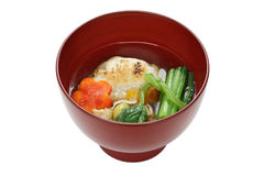 Zoni del estilo de Tokio, sopa japonesa de la torta de arroz Fotografía de archivo