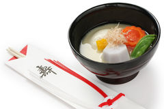 Zoni della minestra di miso (minestra giapponese) della torta di riso, japanse Fotografia Stock Libera da Diritti