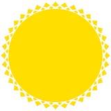 Zonillustratie, zon klem-kunst voor aard, zonlicht, conc de zomer vector illustratie