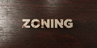 Zoning - grungy wooden headline on Maple  - 3D rendered royalty free stock image. This image can be used for an online website banner ad or a print postcard Stock Photo