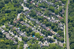 Zoning Patterns. Found in contemporary North American towns and cities Stock Photography