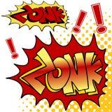 Zonk Comic Book Text stock illustration