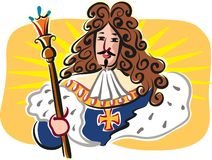Zonkoning, Louis XIV, koning van Frankrijk stock illustratie