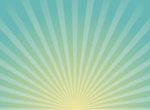 Zonlicht brede horizontale achtergrond De blauwe achtergrond van de kleurenuitbarsting met geel hoogtepunt royalty-vrije illustratie