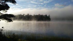 Zonlicht die de mist ontruimen stock afbeelding
