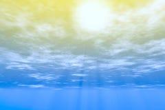 Zonlicht door wolken stock illustratie