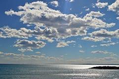 Zonlicht en 3D Wolken Stock Fotografie