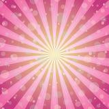 Zonlicht magische achtergrond De roze en gele achtergrond van de kleurenuitbarsting met confettienfonkelingen of sneeuw stock illustratie