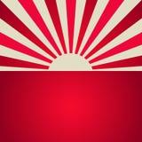 Zonlicht retro affiche De achtergrond van de rode kleurenuitbarsting royalty-vrije illustratie