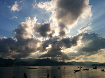 Zonn wolk royalty-vrije stock foto