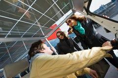 Zonne aangedreven tuc tuc vervoerprijs Royalty-vrije Stock Afbeeldingen
