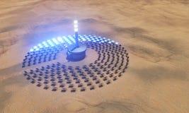 Zonne elektrische centrale vector illustratie