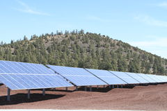 Zonne elektrische centrale/Arizona stock foto